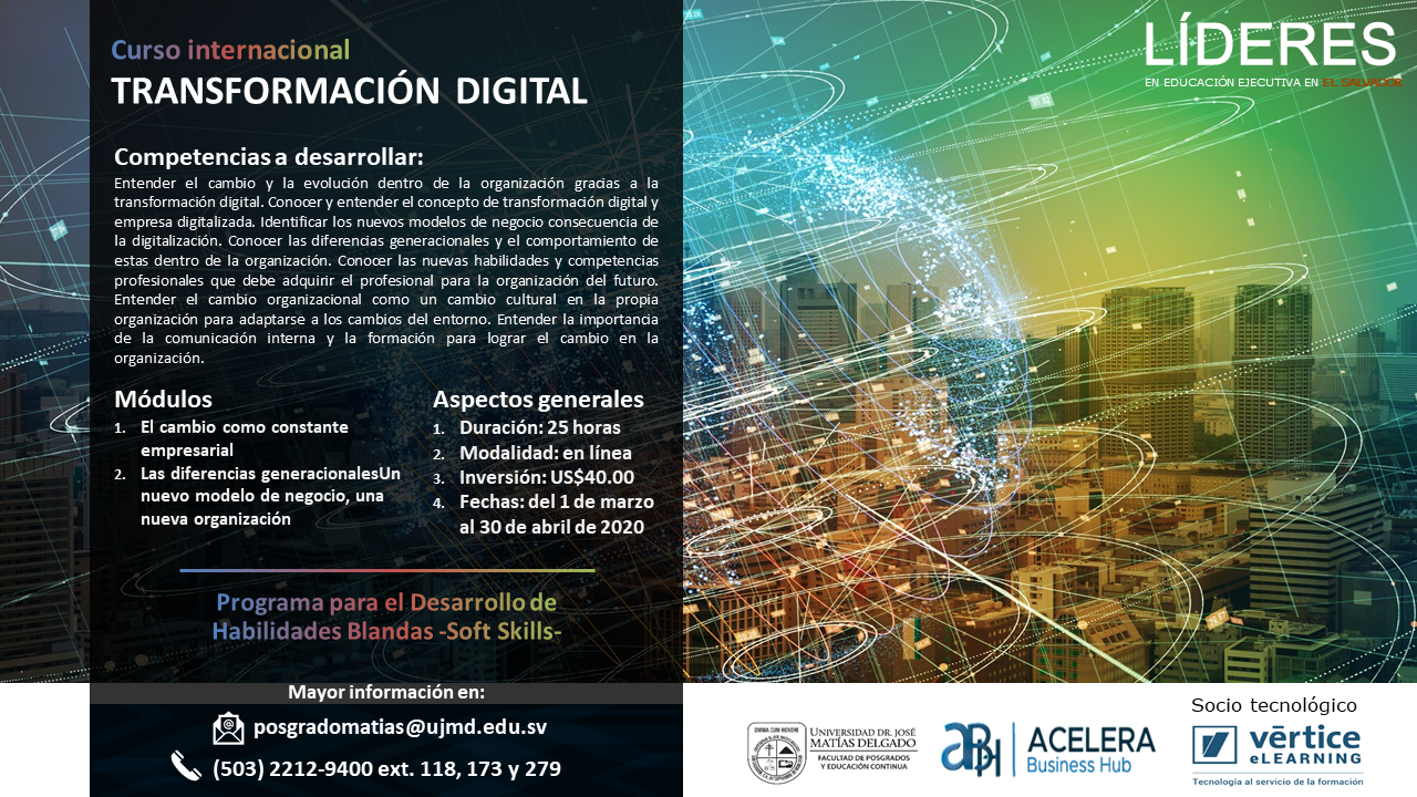 Curso Internacional de Transformación digital UJMD