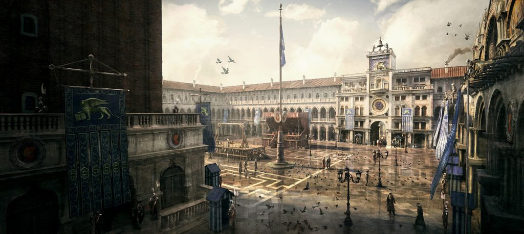 Concept art for Assassin's Creed II. Image © Ubisoft Montreal